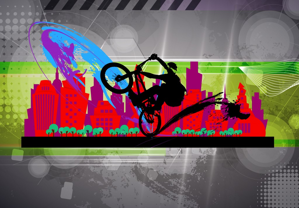 Sport, BMX illustration